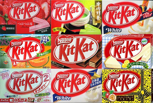 localisation kitkat japan with localised package