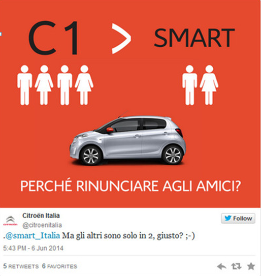 citroen formula parking social media battle against smart social media battle