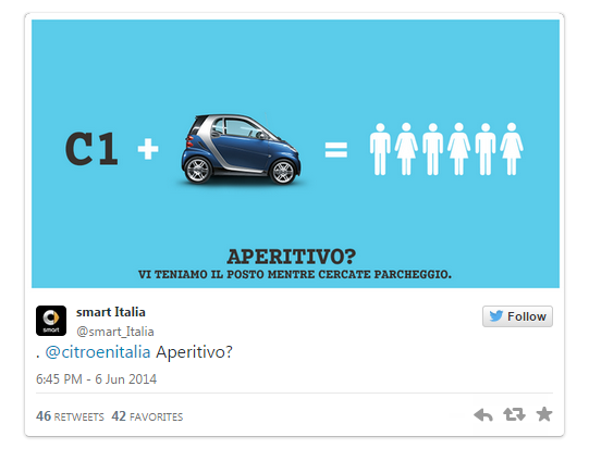 citroen formula parking social media battle against smart