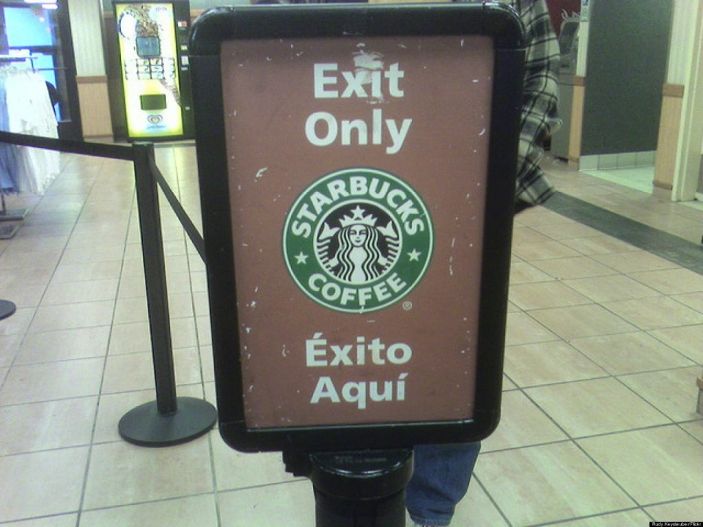 10 Biggest Brand Blunders in History, only exit signal from starbucks