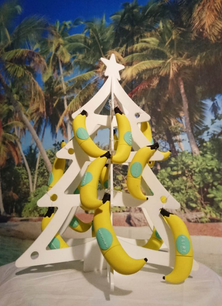 flirtsoho branded christmas tree for the loveurope christmas competition contest