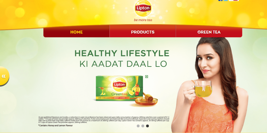 colours in advertising - lipton en india