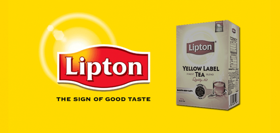 colours in advertising lipton monocrome